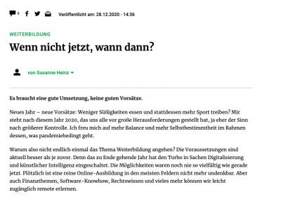 Frankfurter Rundschau mit Susanne Heinz