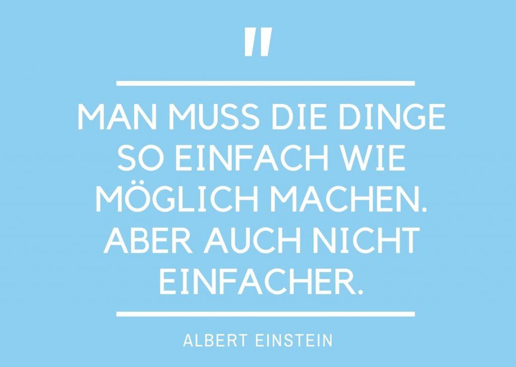 Einstein einfach machen
